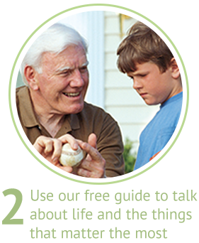 Use our free guide to talk about life and the things that matter the most